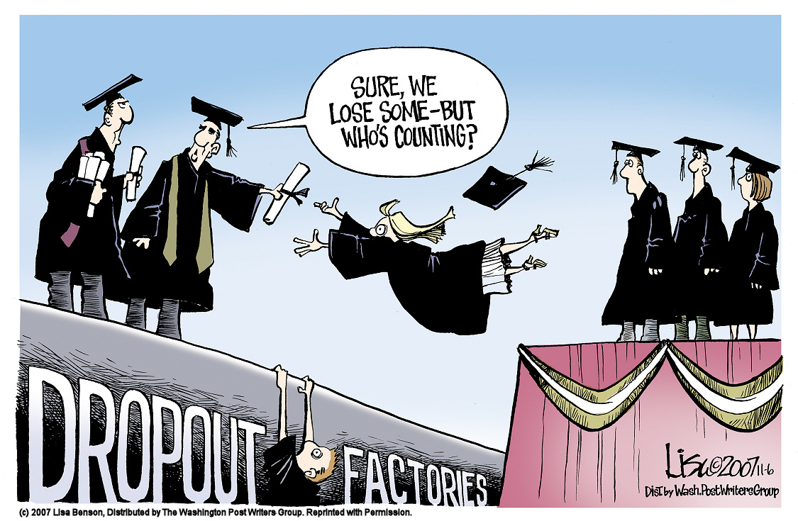The problem and the reasons for high school dropouts in the united states